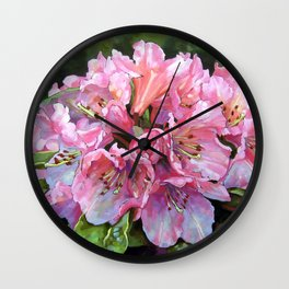 Courtenay Lady Rhododendron Wall Clock