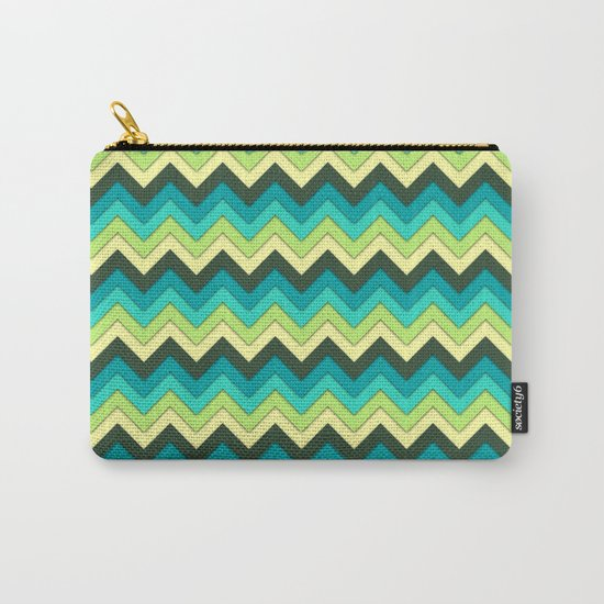 Multicolor Pattern Carry-All Pouch