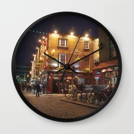 Temple Bar in Dublin Wall Clock