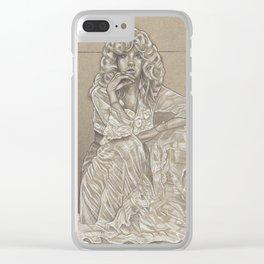 Stevie Nicks Illustration Clear iPhone Case