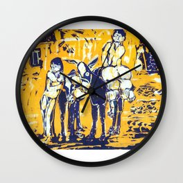 Down Mexico Way         by Kay Lipton Wall Clock