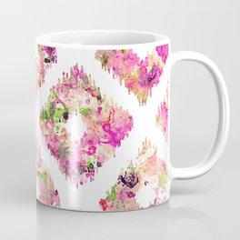 Purple Green Tribal Ikat Watercolor Ethnic Diamond Coffee Mug
