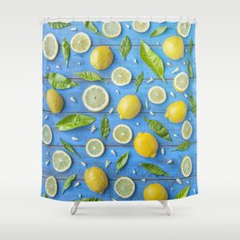Fruits and leaves pattern (32) Shower Curtain