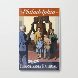 PHILADELPHIA/vintage Metal Print