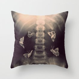 Stomach Butterflies Throw Pillow