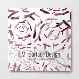 Julian | cherry blossom geometric Metal Print