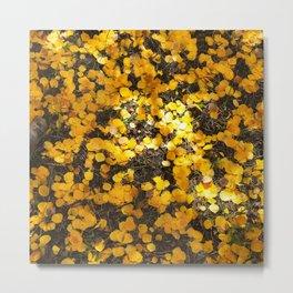 Aspen Leaf Carpet Metal Print