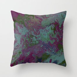 Abstract - Hare Follicles Throw Pillow