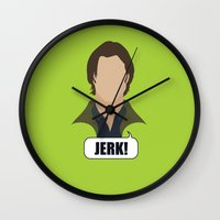 sam winchester Wall Clocks featuring 2 Sam Winchester by Alice Wieckowska