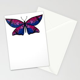 Fly With Pride: Bisexual Flag Butterfly Stationery Cards