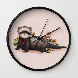 Little Ferret Wall Clock