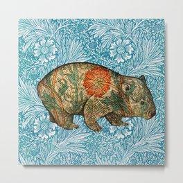 Rossetti's Wombat In Blue Marigold Metal Print