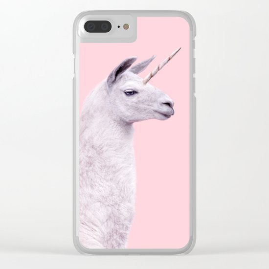 UNICORN LAMA Clear iPhone Case