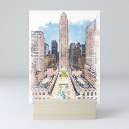 Rockefeller Center Mini Art Print