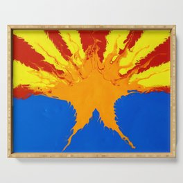 Arizona Flag (Poured Acrylic Style) Serving Tray