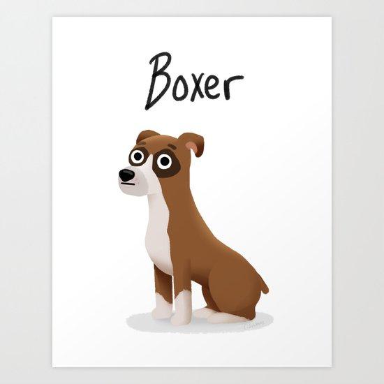Boxer - Cute Dog Series Art Print