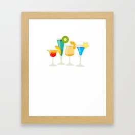 Just Add Liquor Mixed Drinks Partying Bartender T-Shirt Framed Art Print