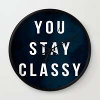 classy Wall Clocks featuring CLASSY by Chrisb Marquez