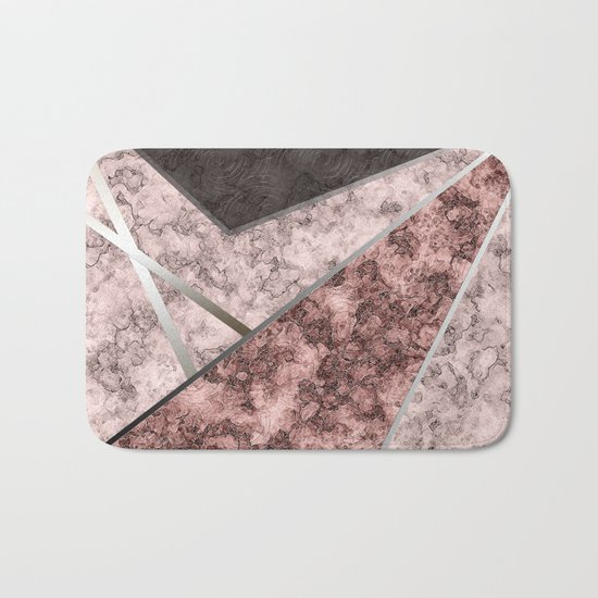Marble . Combined abstract pattern . Bath Mat