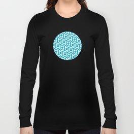 Modern Hive Geometric Repeat Pattern Long Sleeve T-shirt