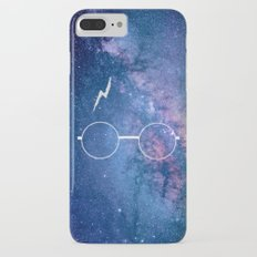 Space Galaxy Potter Glasses Lightning Scar Slim Case iPhone 7 Plus