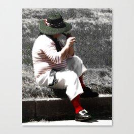Street Performer photography Canvas Print