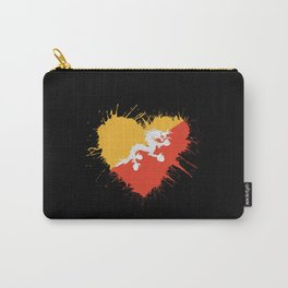 Bhutan Heart Flag Carry-All Pouch