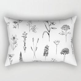 Patagonian wildflowers white Rectangular Pillow