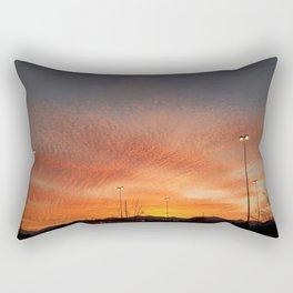 Sunburst sunset in Salt Lake City, Utah Rectangular Pillow