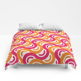 refresh curves and waves geometric pattern Comforters