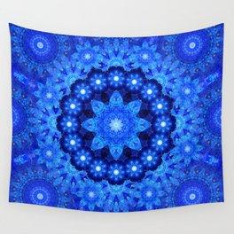 Lapis Crown Mandala Wall Tapestry