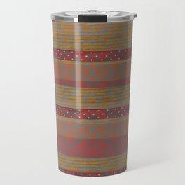 Cozy Autumn Stripes Travel Mug