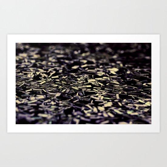 sprinkle in gold Art Print