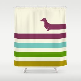(Very) Long Dachshund Shower Curtain