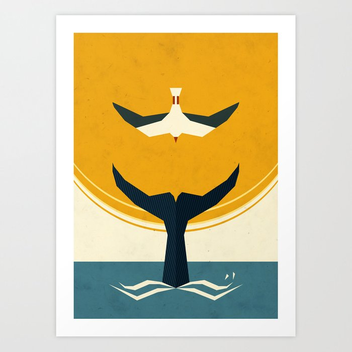 Discover the motif TOO BIG A FISH by Yetiland as a print at TOPPOSTER