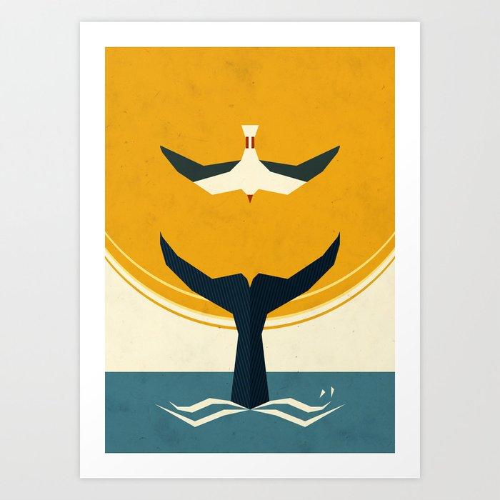Descubre el motivo TOO BIG A FISH de Yetiland como póster en TOPPOSTER