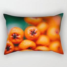 Winter Berries (Macro) in London by Diana Eastman Rectangular Pillow