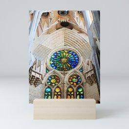 Sagrada Familia by Gaudi, Barcelona Cathedral   Stained glass Mini Art Print