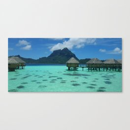 Bora Bora Bungalow Canvas Print