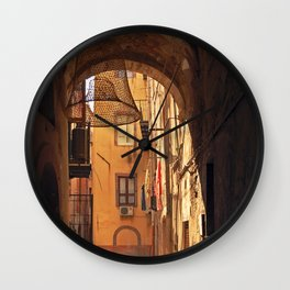 ARCHWAY and Sardinian fish traps Wall Clock