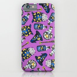 Midnight Witchcraft - Magical Pattern on Purple iPhone Case