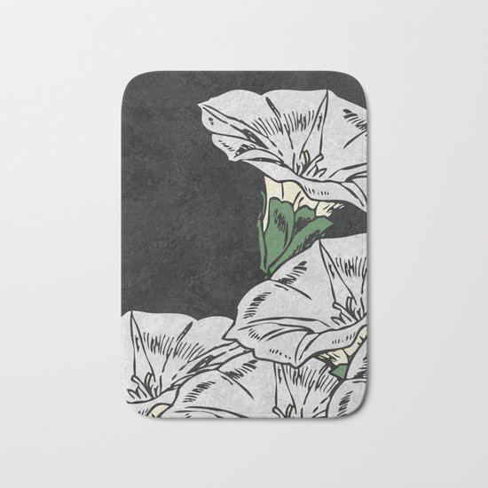 MARBLE FLOWERS (abstract) Bath Mat