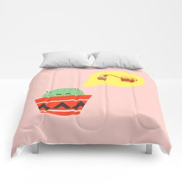 Cactus daydreaming Comforters