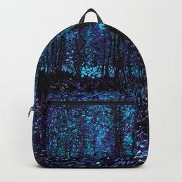 Van Gogh Trees & Underwood Indigo Turquoise Backpack