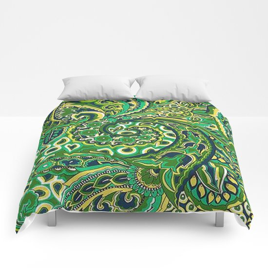 Floral Paisley Pattern 04 Comforters