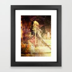 Fountains of Sparkling Champagne. Framed Art Print