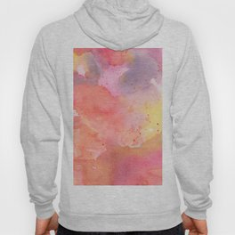 Sunset Color Palette Abstract Watercolor Painting Hoody
