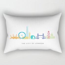 London Skyline White Rectangular Pillow