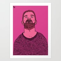 the dude Art Prints featuring Dude by rbengtsson