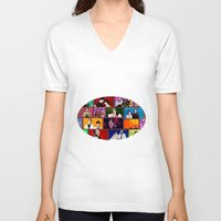 comics V-neck T-shirts featuring Comics by AntWoman